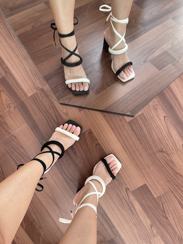 Ankle Straps - Cream