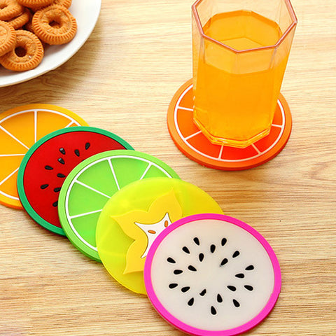 Rainbow Fruit Coasters