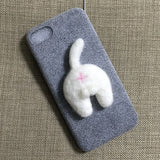 Felt Kitty Butt Phone Case