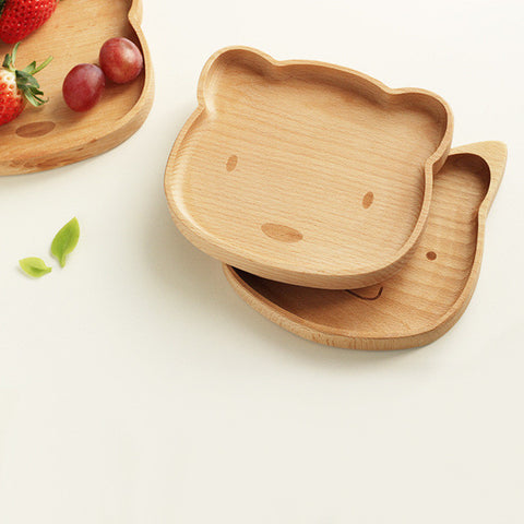 Beary Purrfect Wood Plate