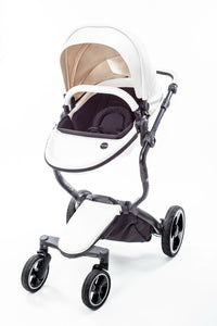 White 2 in 1 Bassinet Stroller