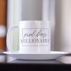 girl boss millionaire inspirational coffee mug
