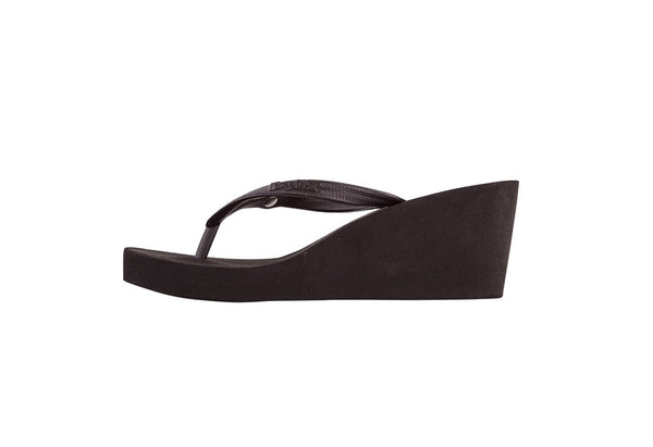 WEDGES / Black / 7cm