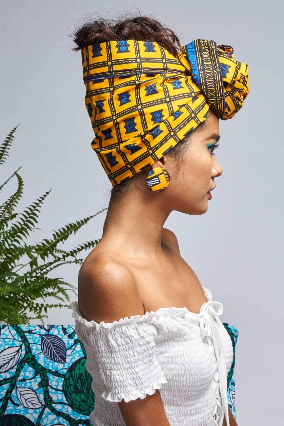 Halina Yellow Headwrap