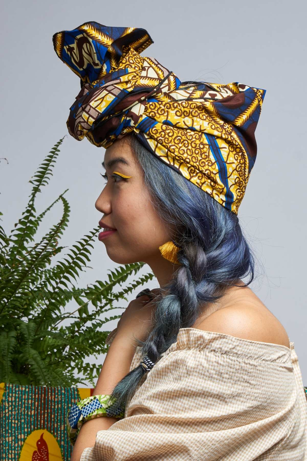 Ayoluwa Blue ABC Headwrap