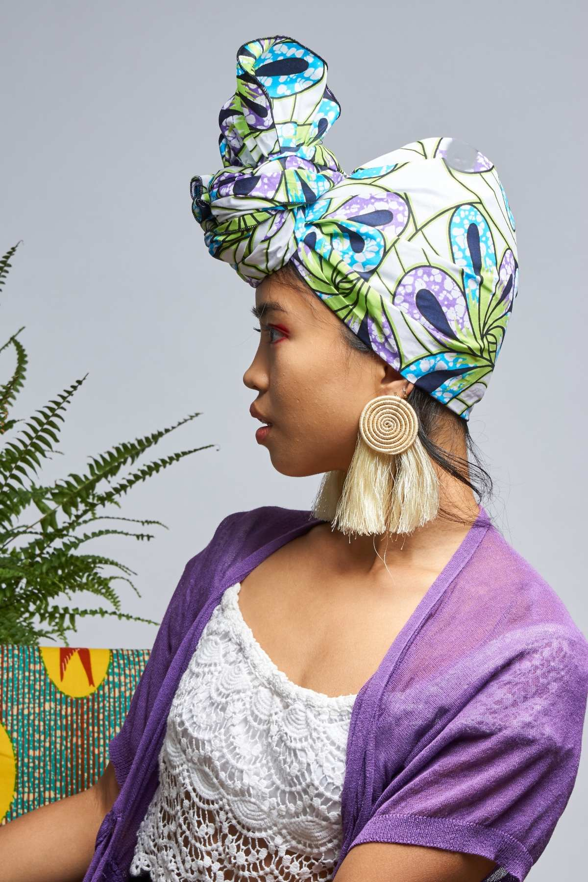 Ayodele White Headwrap