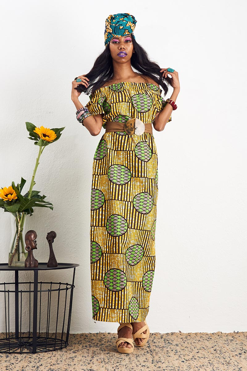 Ayanna Off Shoulder Maxi Dress