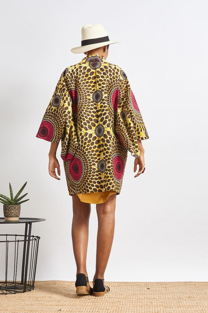 Jokia Yellow/Brown Reversible Unisex Afromono