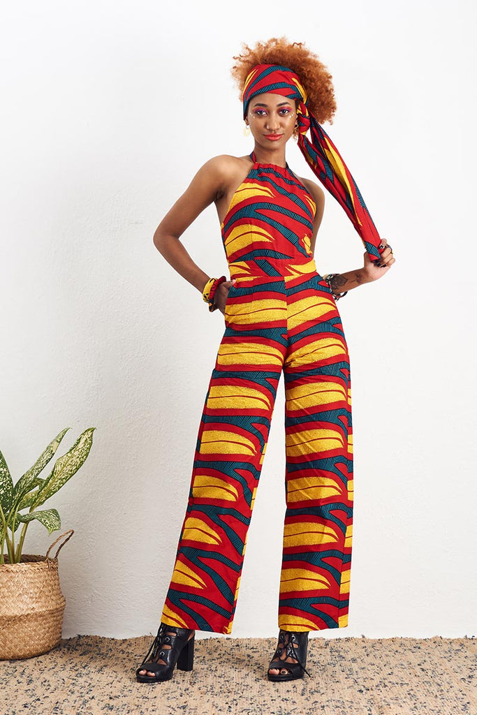 Amaka Red Jumpsuit