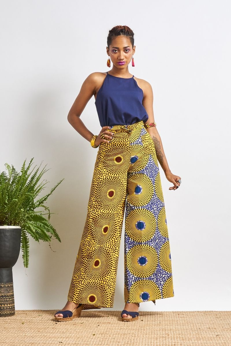 Apiyo Yellow Water Well Wrap Pants