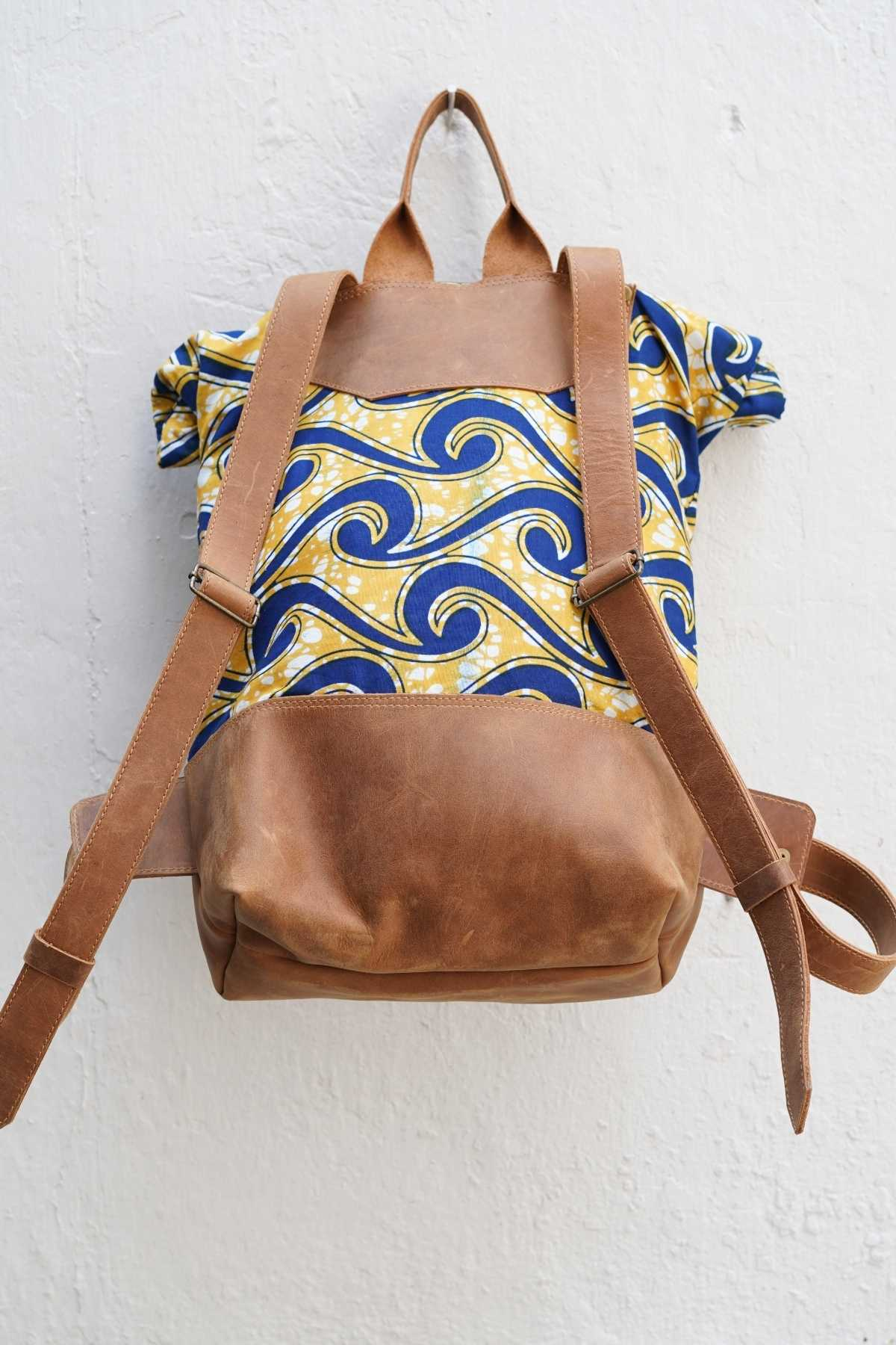 Bepu Folashade Yellow Rolled Backpack