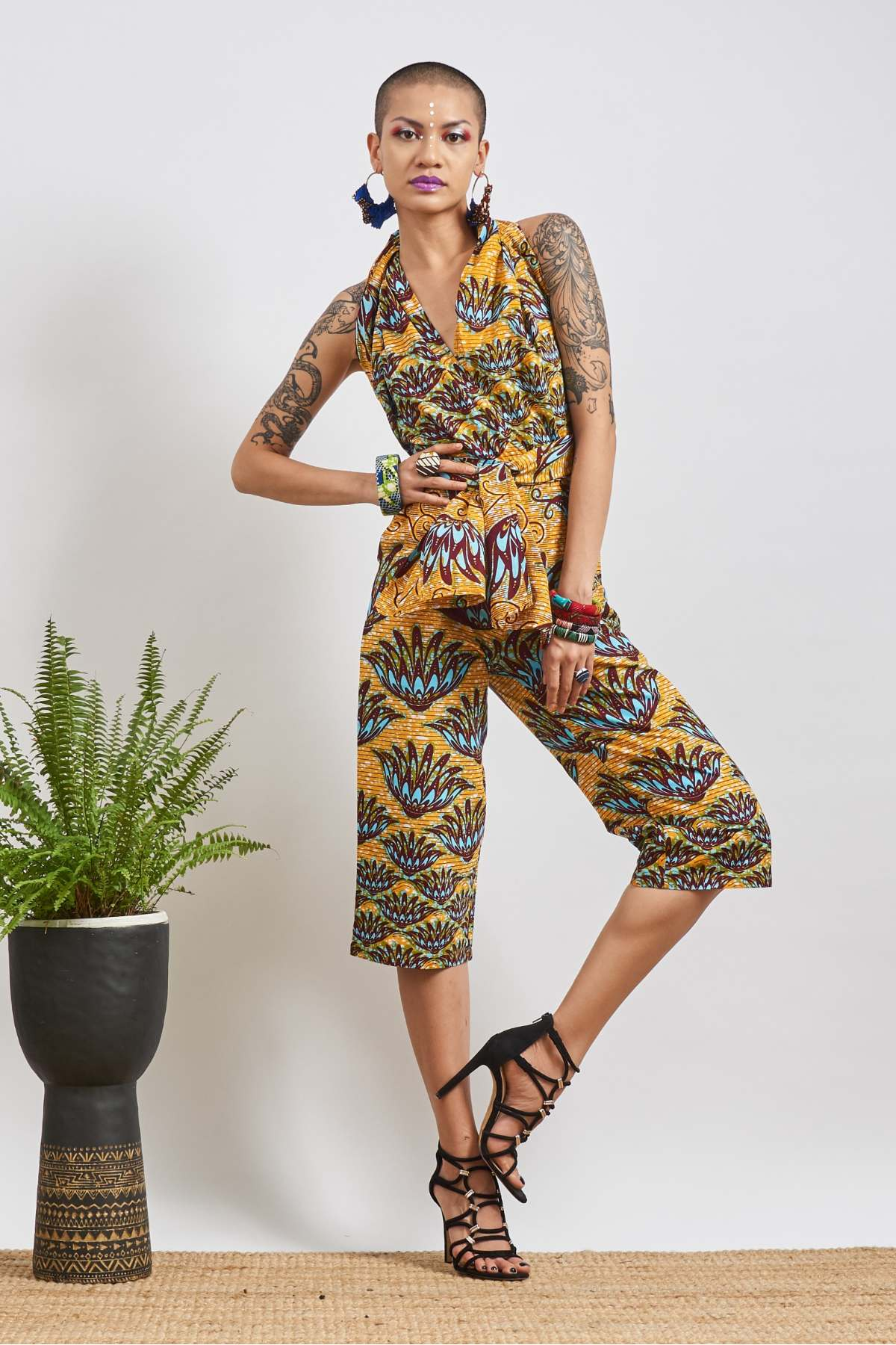 Chinwe Lotus Culottes Infinity Jumpsuit