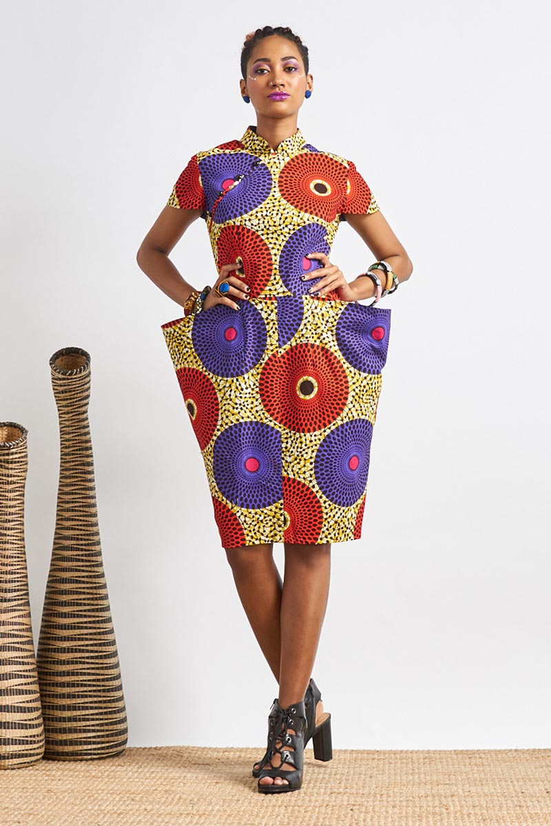 Custom made Chloe Ankara Cheongsam