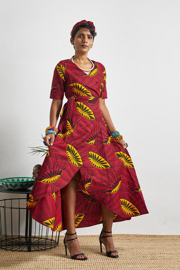 Jamala Red Wrap Dress