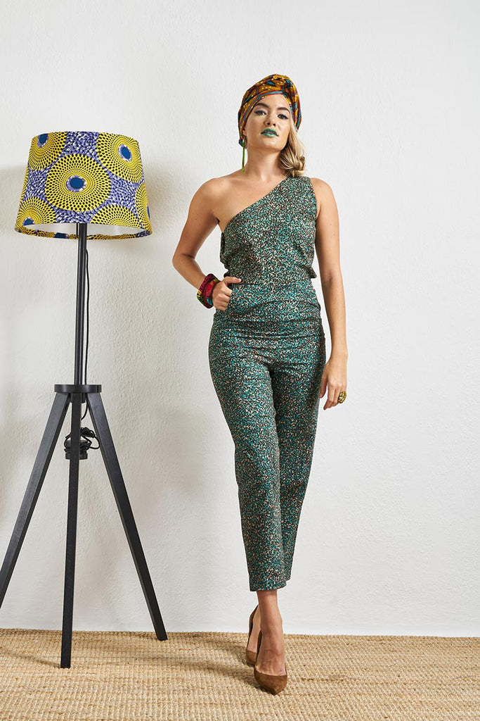 Onyeka Twigs One Shoulder Jumpsuit