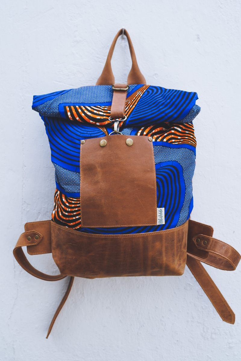 Bepu Ayanti Blue Rolled Backpack