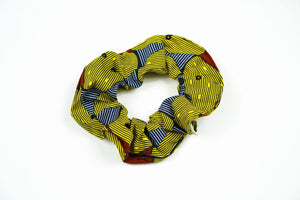 SCRUNCHIE african wax print cotton oliveankara