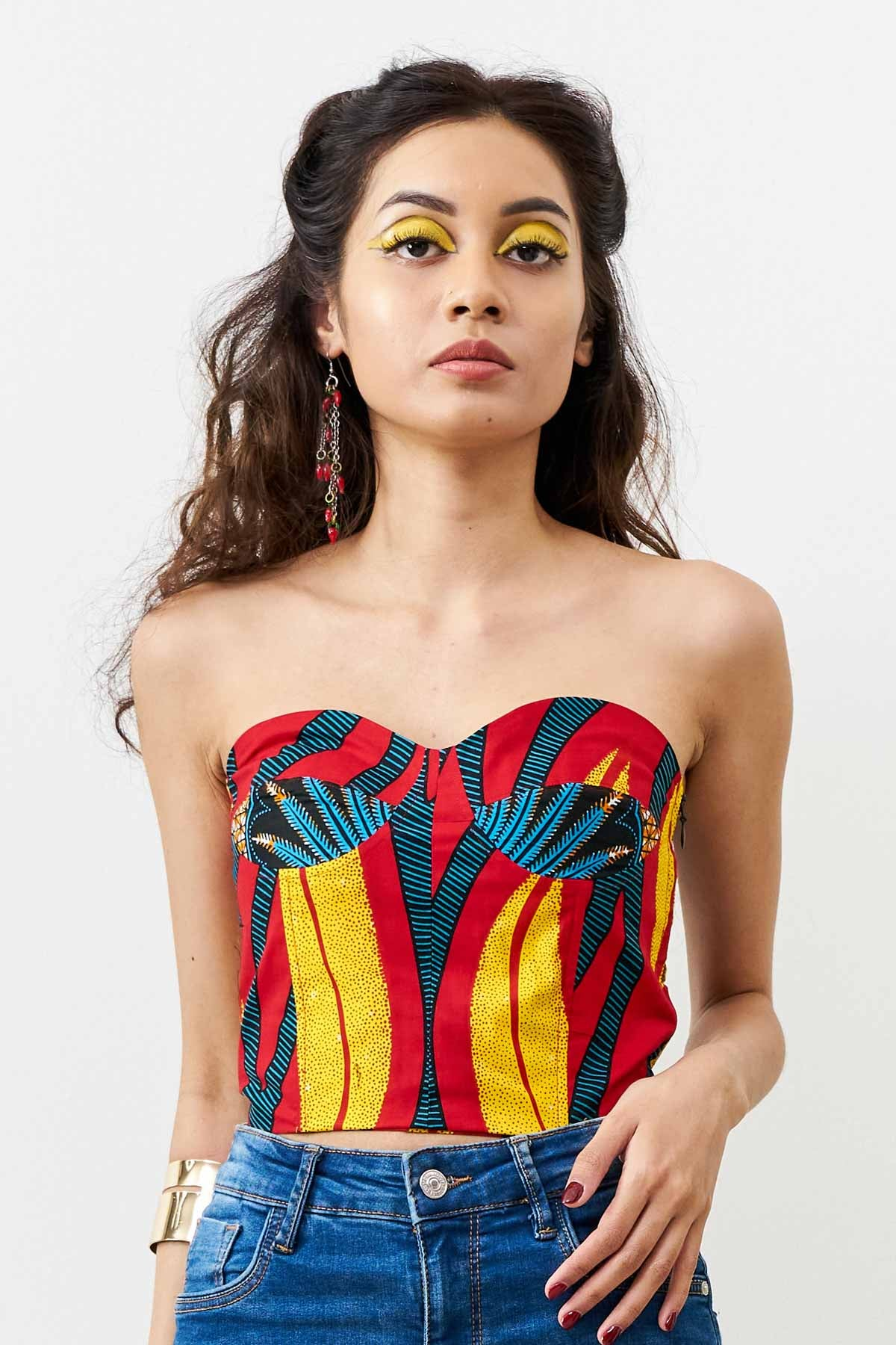 Deka Medley Corset - Blue/Red/Yellow