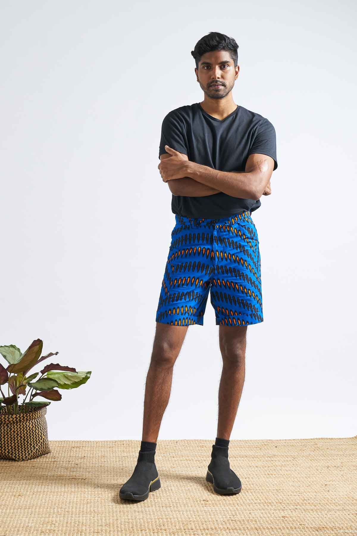 Femi Chino Unisex Shorts - Blue