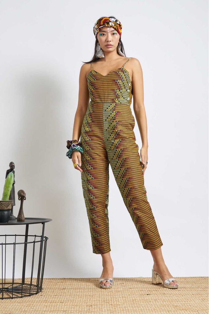 Folashade Jumpsuit - Brown