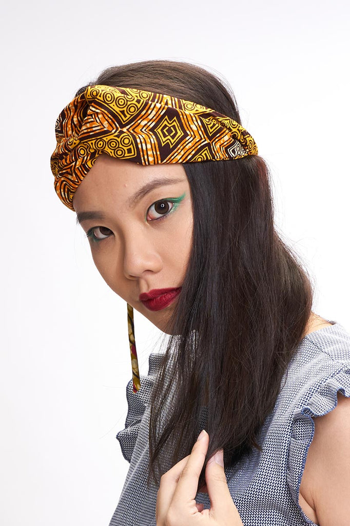 Ayotunde Yellow Turban Headband