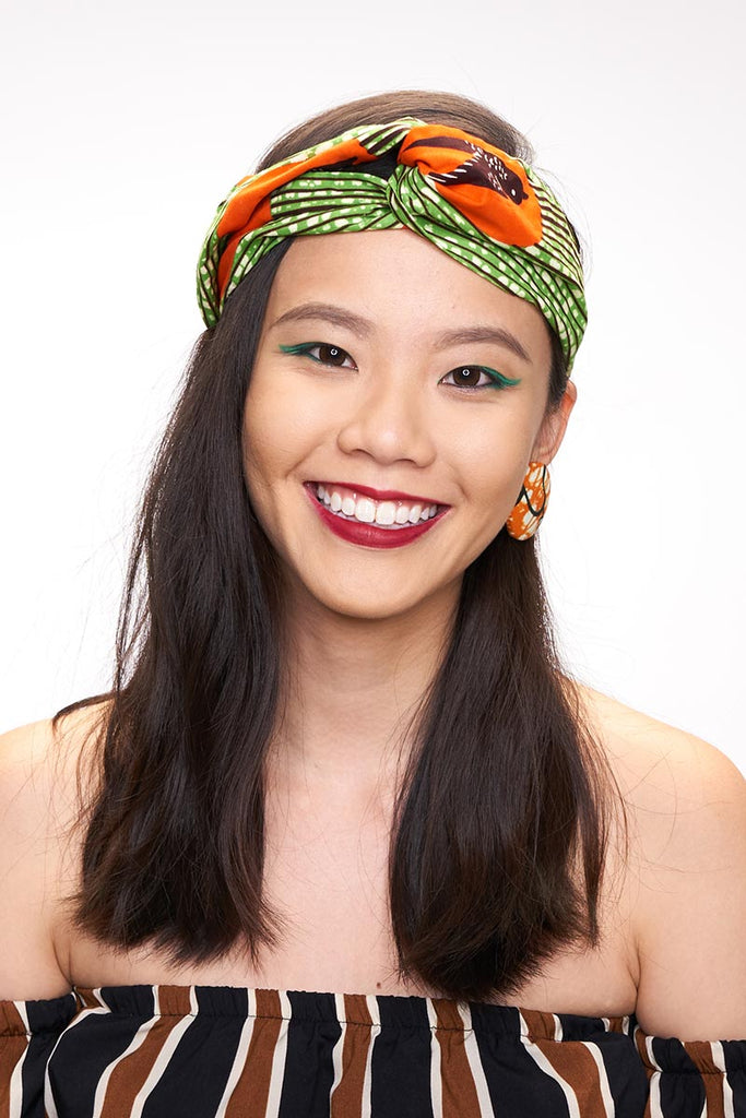 Olivia Green Speedbird Turban Headband