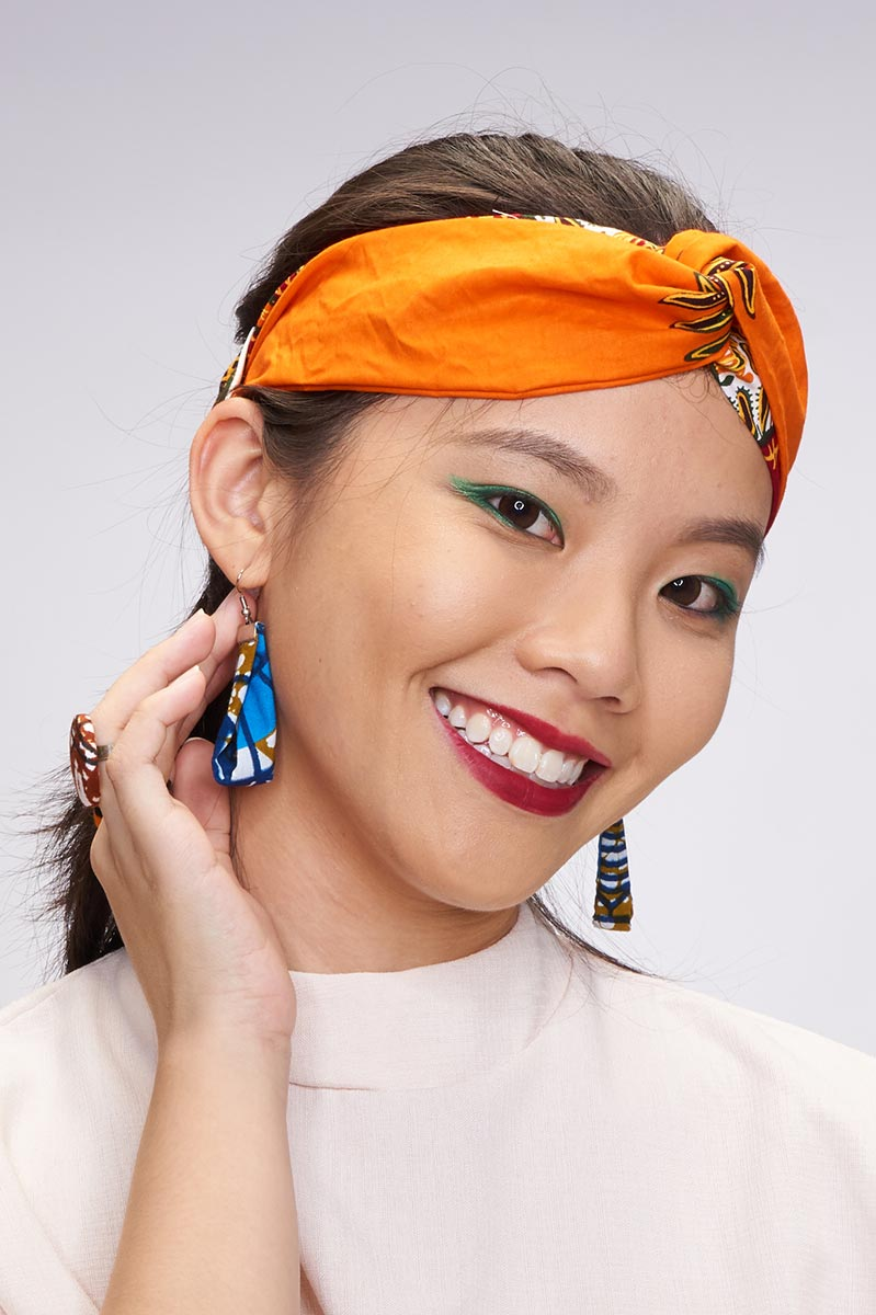 Siti Orange Turban Headband