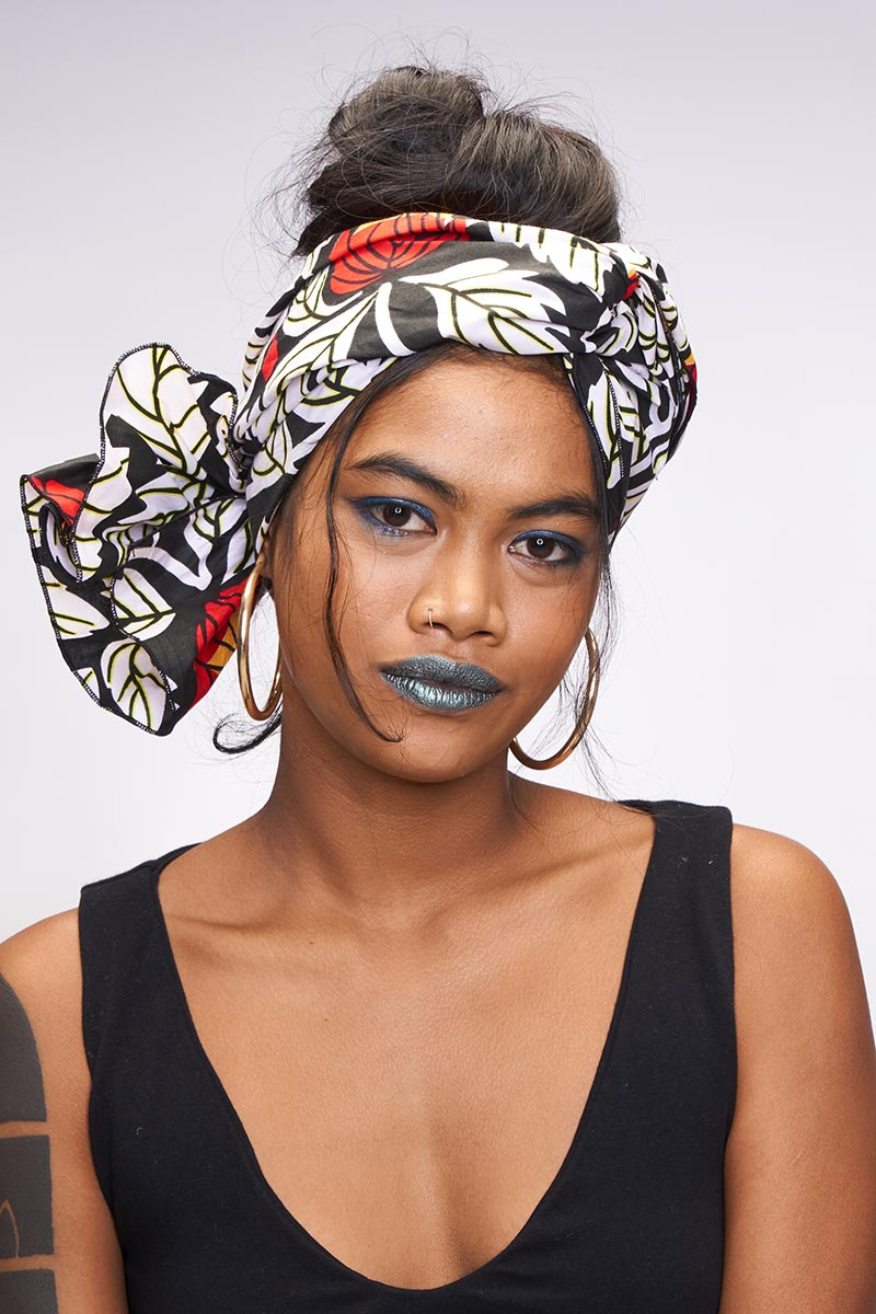 Nadira Black Headwrap