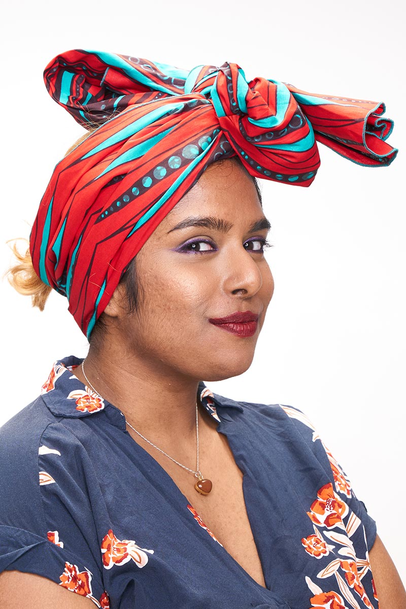 Ode Red & Green Headwrap