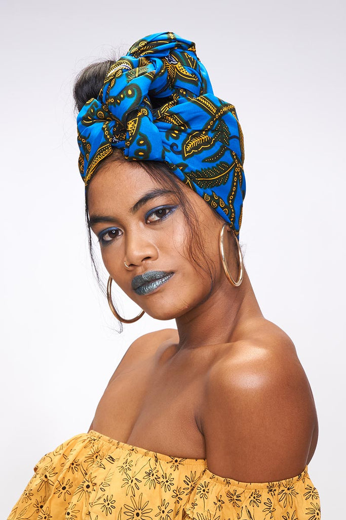 Efe Blue Headwrap