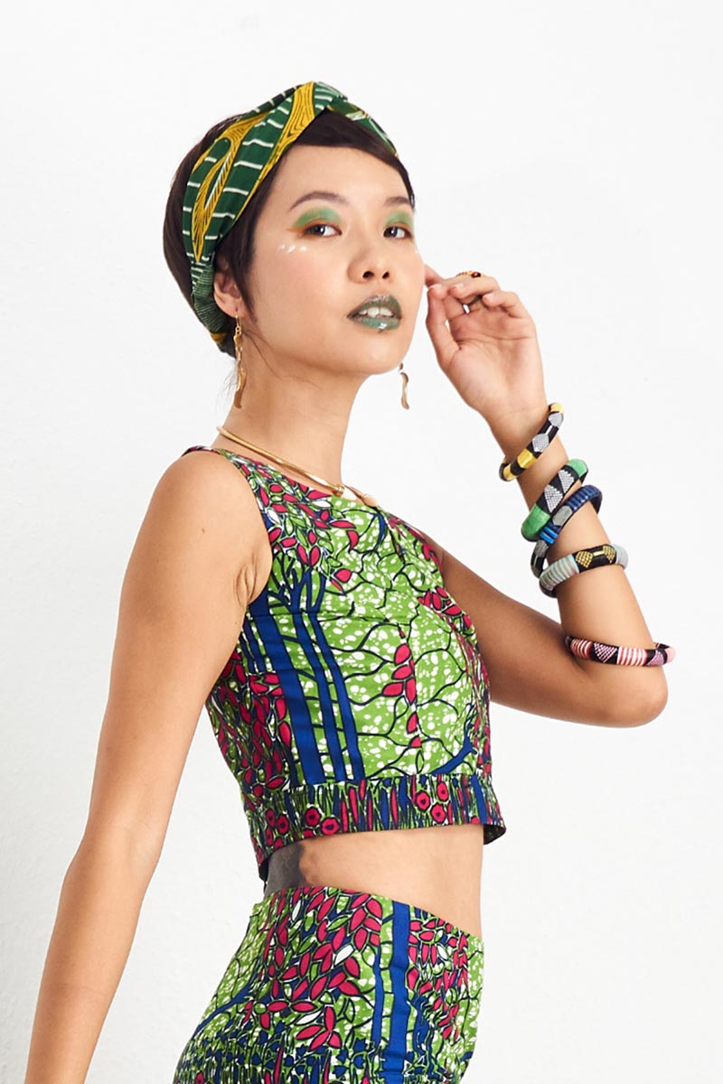 Hassana Green Crop Top