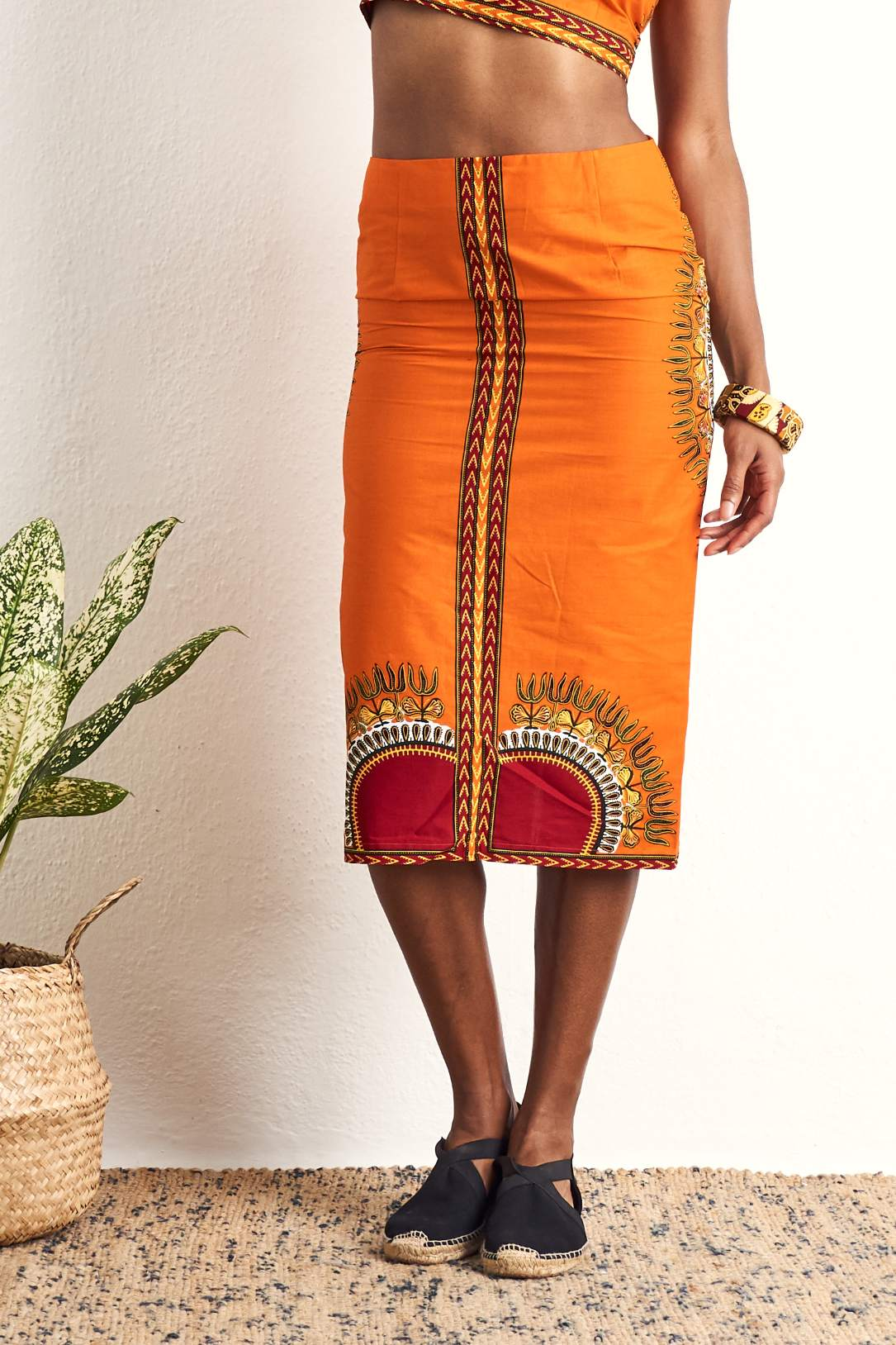 Hassana Dashiki Pencil Skirt