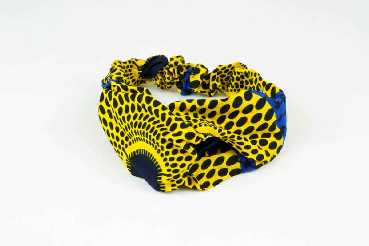 Surya Turban Headband - Yellow/Blue