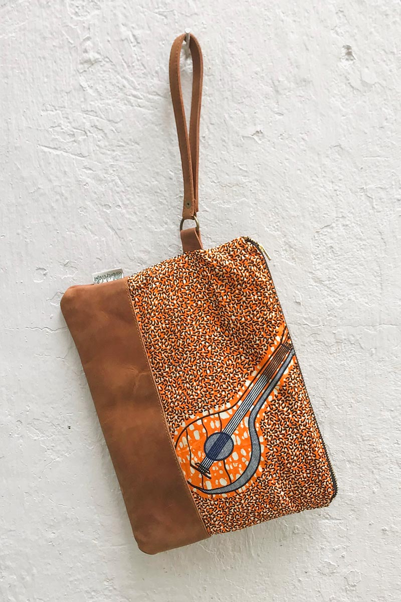 Bepu Bonisa Orange Clutch Bag