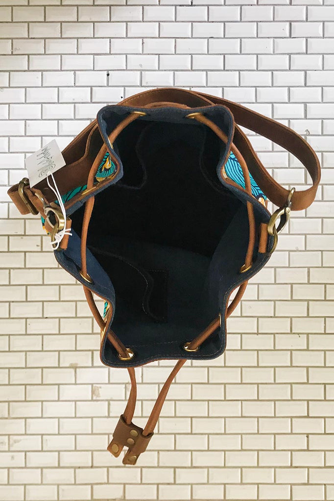 Bepu Teal Rolls Royce Bucket bag