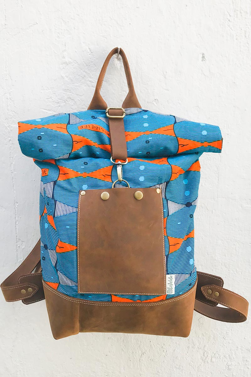 Bepu Teal Highlife Rolled Backpack