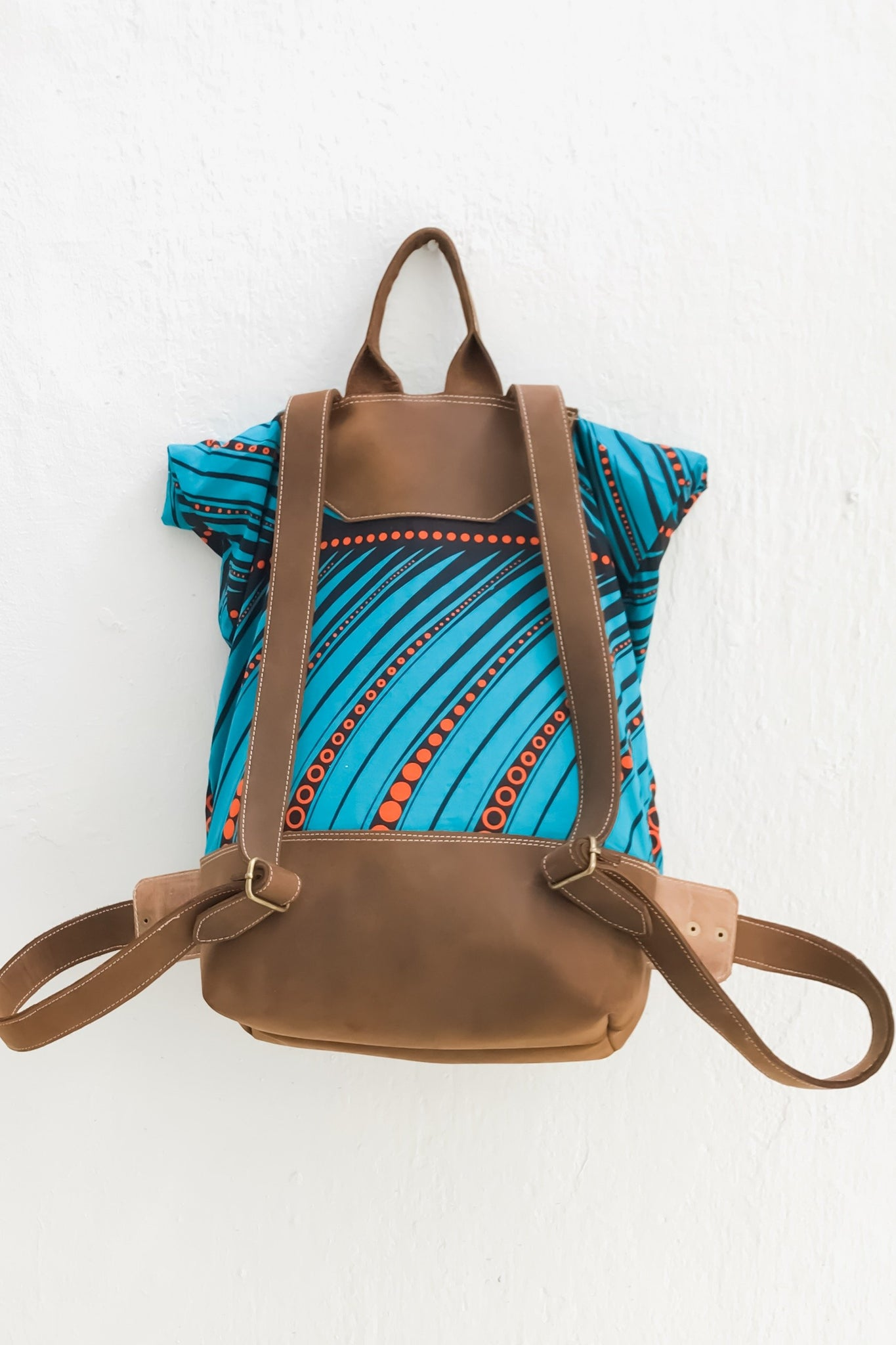 Bepu Blue Chioma Rolled Backpack