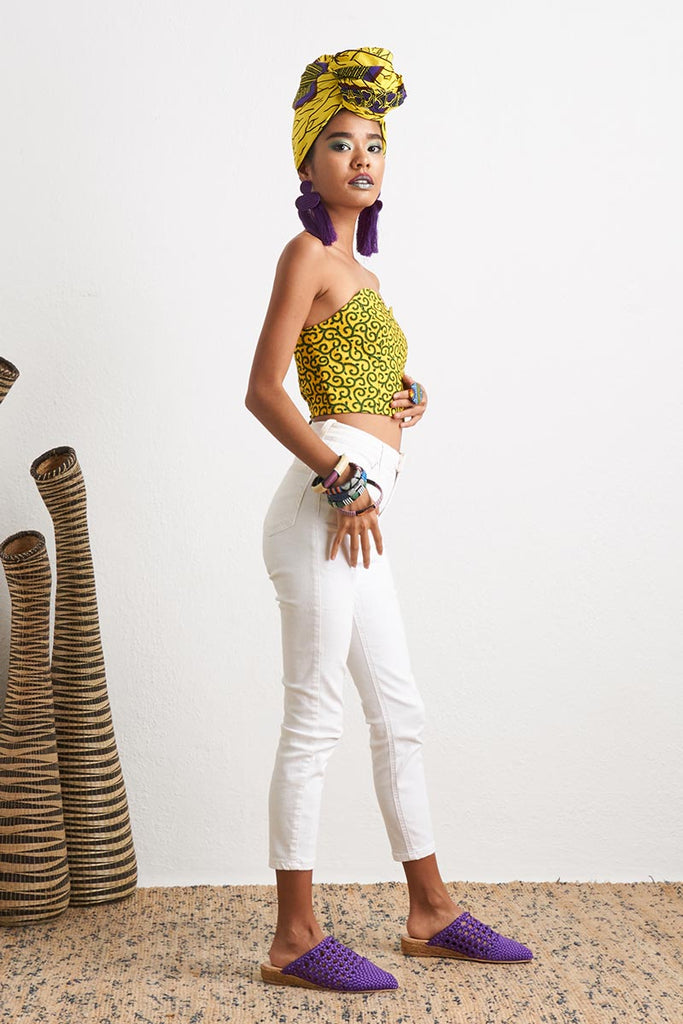 Ifechi Sweetheart Crop Top