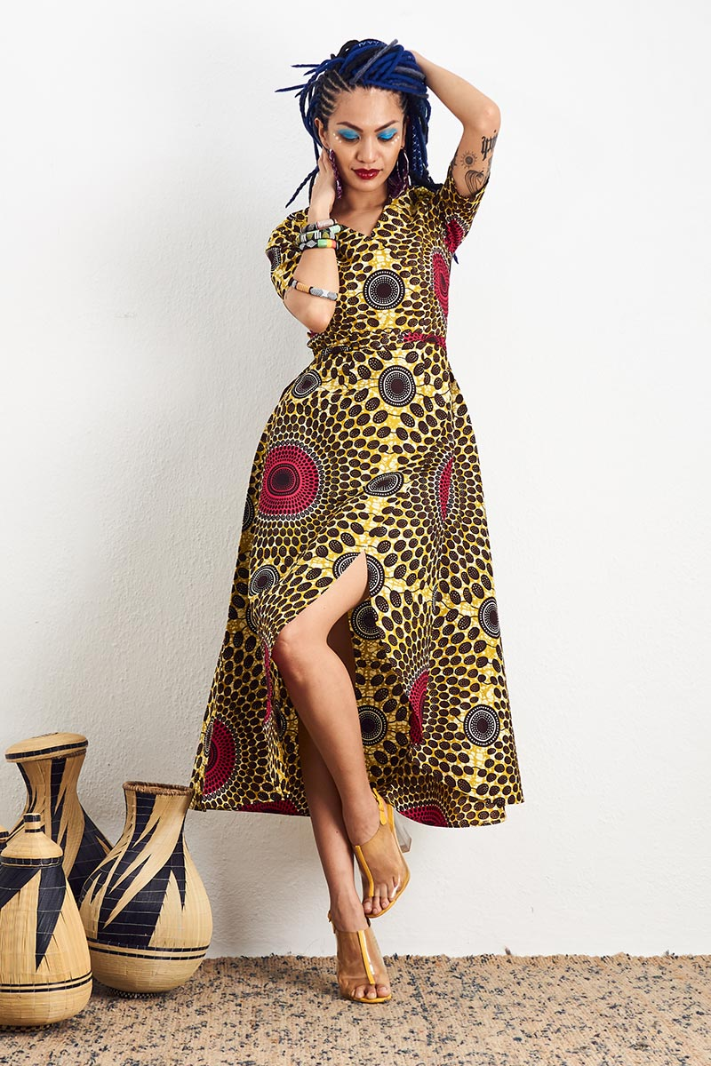 Jamala Yellow Wrap Dress