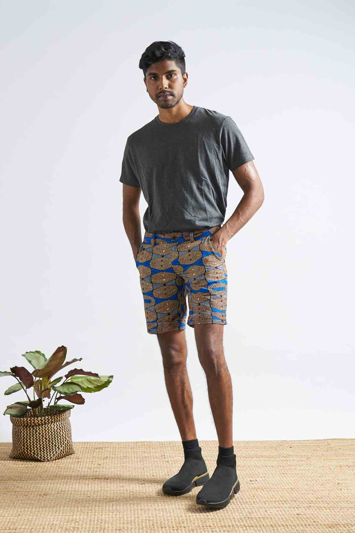 Kelechi Chino Unisex Shorts - Blue Highlife
