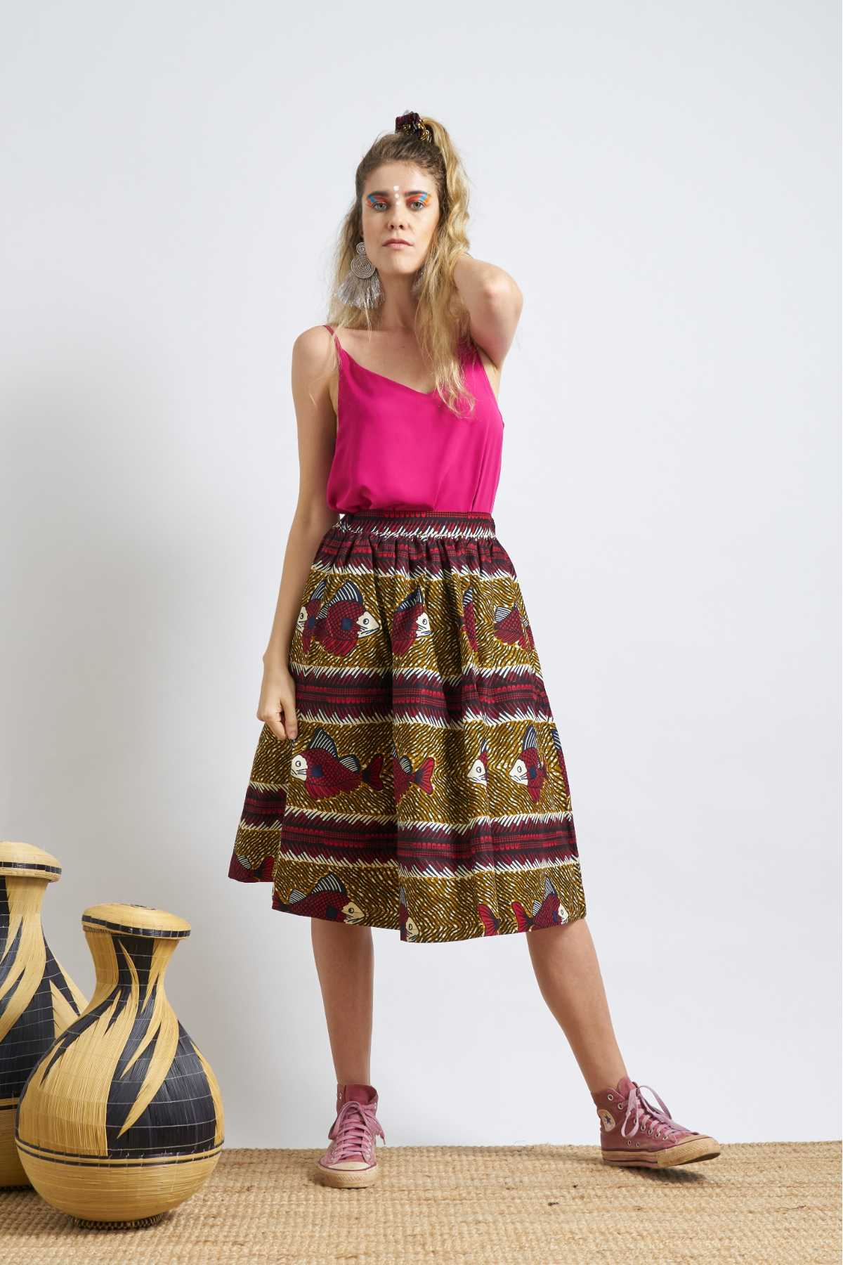 Machie Skirt - Red Fishes