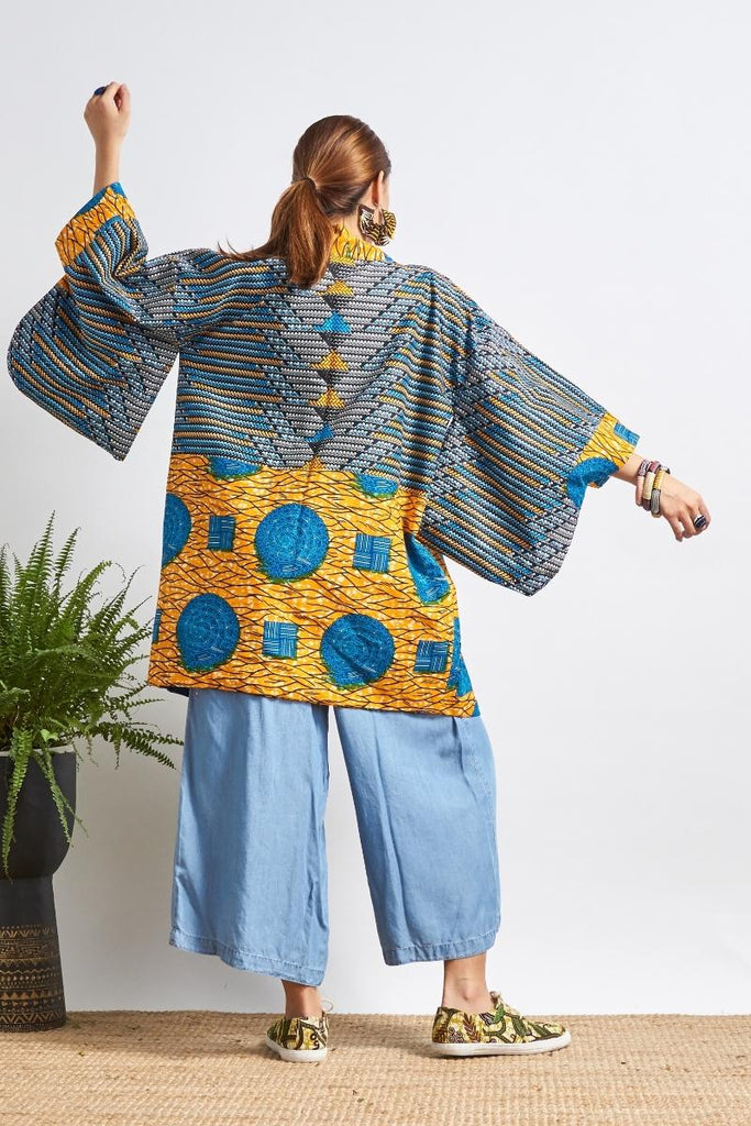 Jokia Big Bibble/Blue Amara Reversible Unisex Afromono