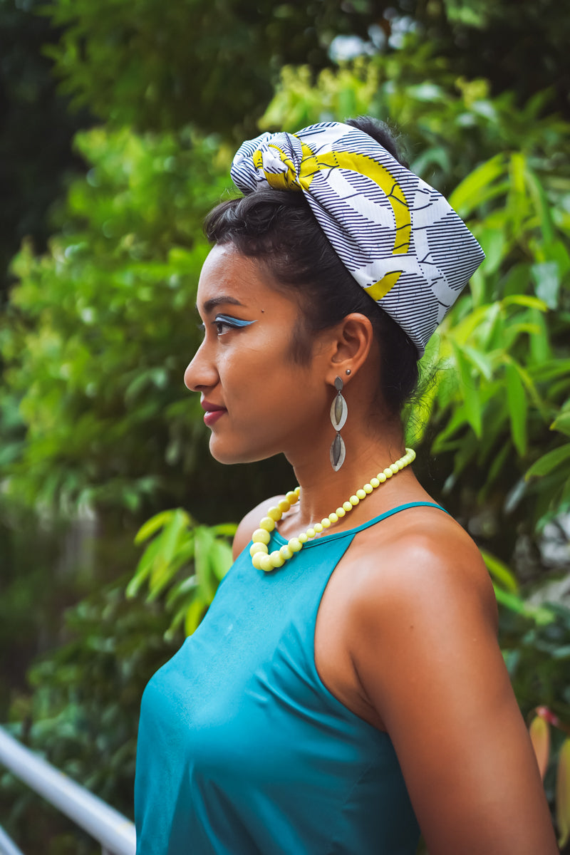 Union Headwrap - Yellow/White/Blue