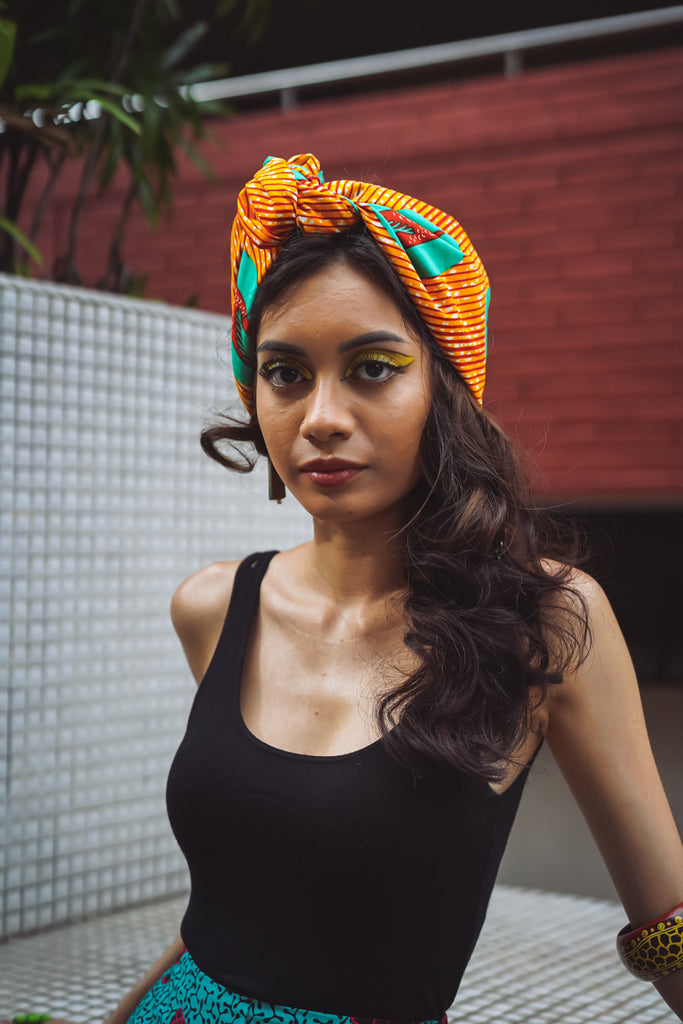 Lou Headwrap - Orange Speed Bird