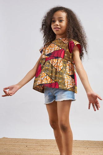 Nina Tunic Dress Orange OA Kids OliveAnkara