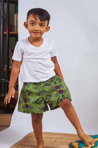 Kai Shorts Green OA Kids OliveAnkara