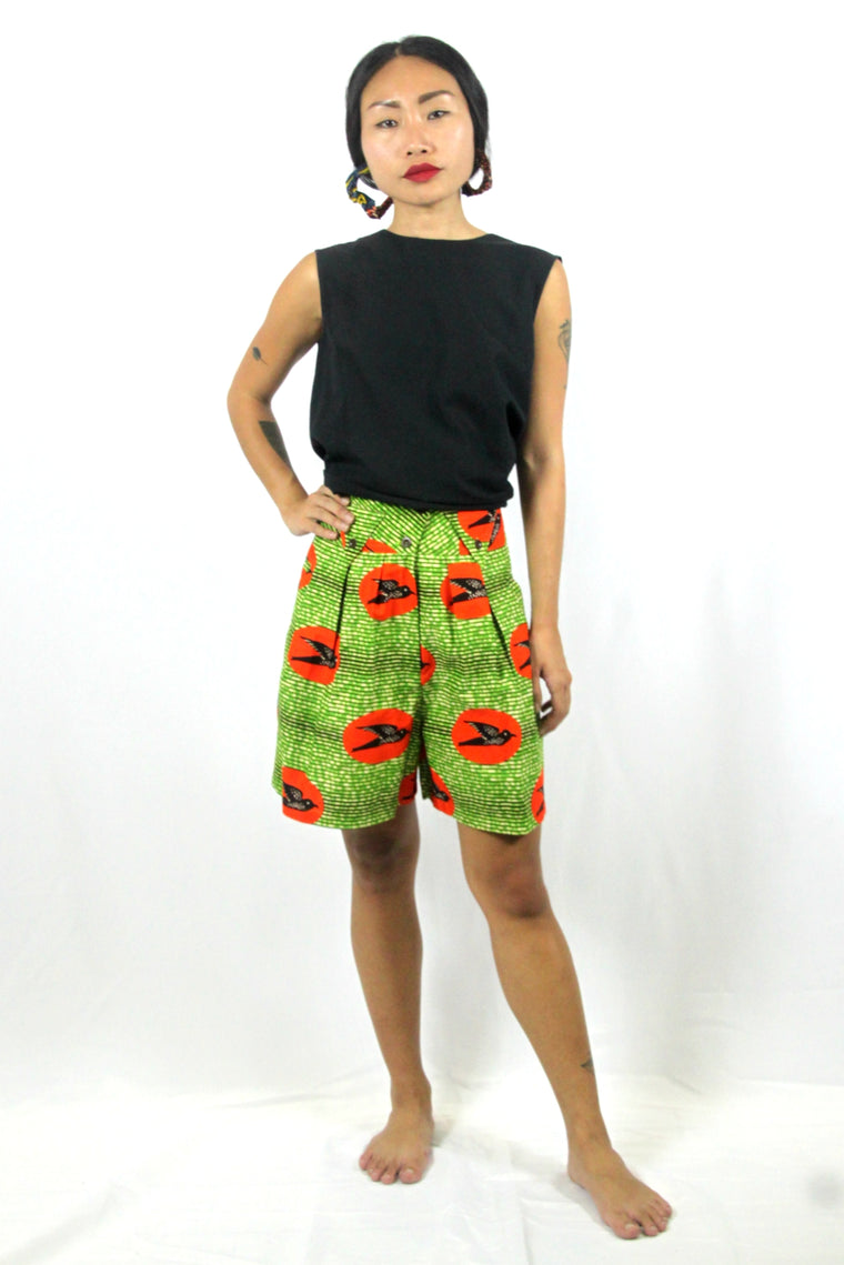OliveAnkara Aretta Shorts - RED - Back2