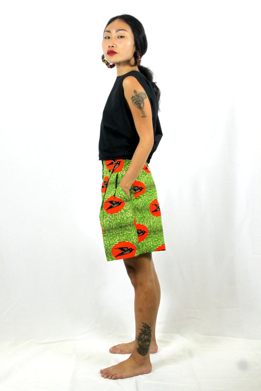 OliveAnkara Aretta Shorts - GReen - Side