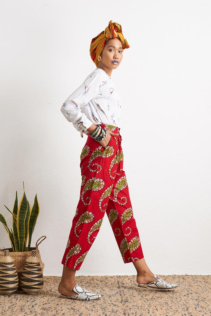 Ode Red Baggy Pants