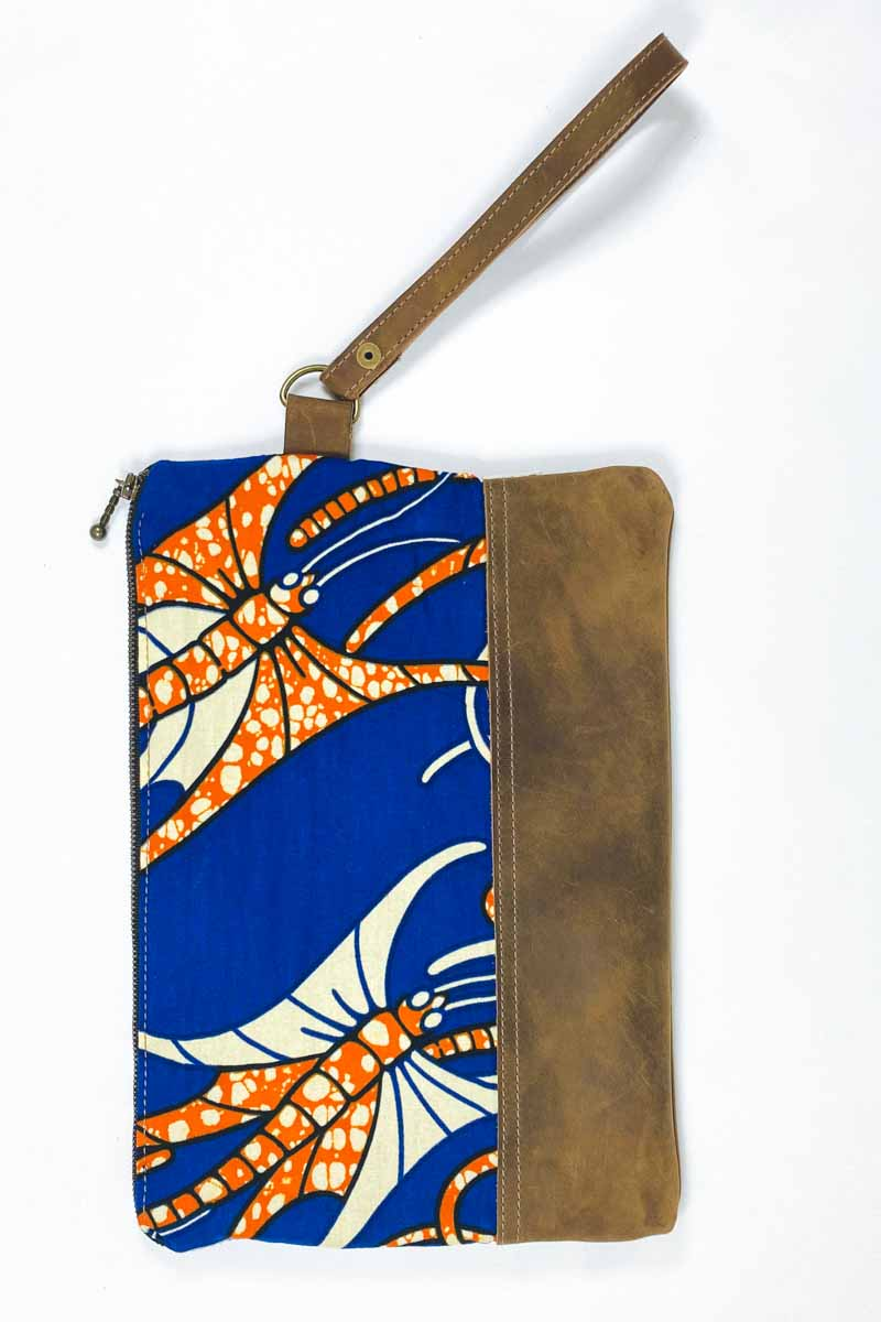 Bepu Kisi Butterfly Clutch Bag - Blue/Orange